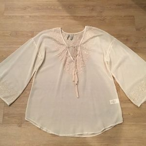 Guess Blouse With Bell Sleeves